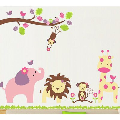 Animal Cute Kids' Baby Playroom Wall Decal Sticker Nusery Art Decor Removable