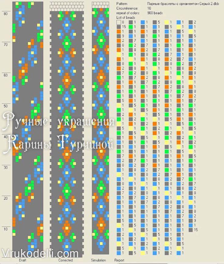 Парні браслети з орнаментами