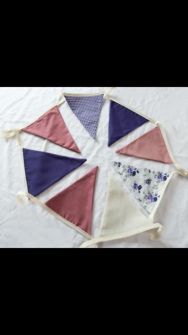 Purple and pinks bunting available for hire