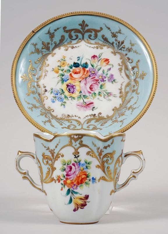 """the-rouge-rose2u: """"  Le Tallec bronze mounted porcelain cup and saucer """""""