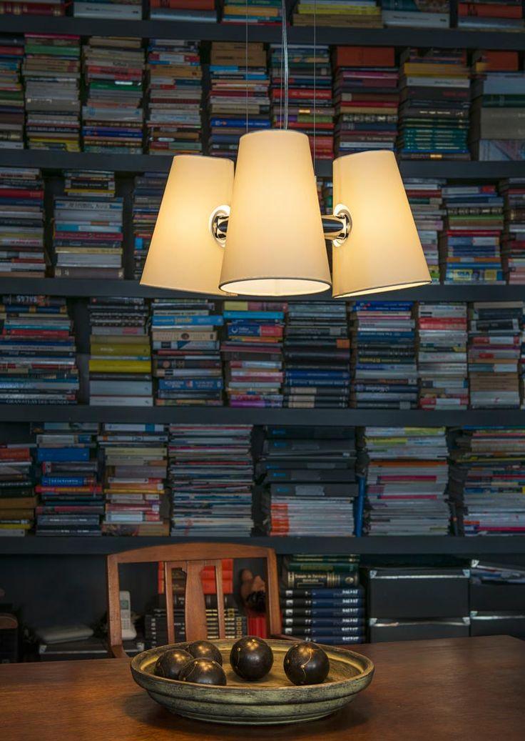 Lámpara de techo LUPE cromo ambiente