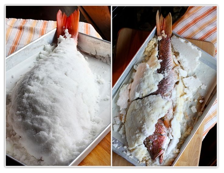 Whole Fish Baked in a Salt Crust | Food - Fish | Pinterest