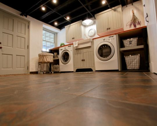85 best laundry room remodel images on pinterest laundry Basement laundry room remodel