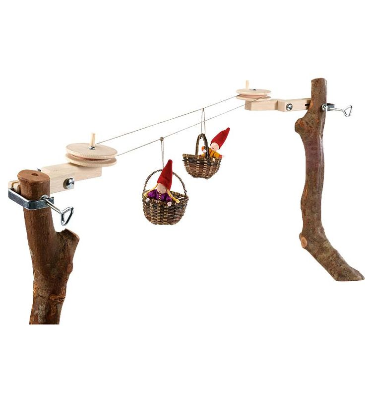 Cable Car Kit:  http://www.magiccabin.com/Gifts-$15-$25/Cable-Car-Kit.htm   This is one of the coolest toys I've ever seen!!