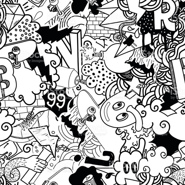 Graffiti colorful seamless pattern royalty-free stock vector art