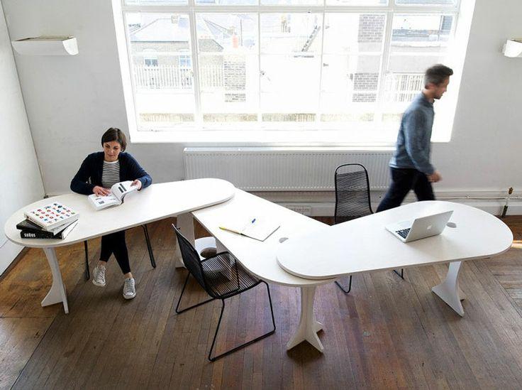 Excellent piece for collaborative teams. LeafDesk by Studio TILT | jebiga | #desk  #officedesign  #modern