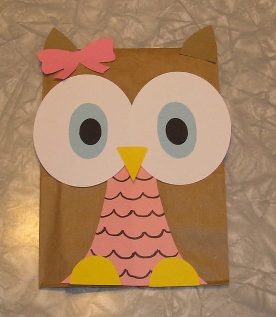 hand out your owl party favors in some cute owl party bags