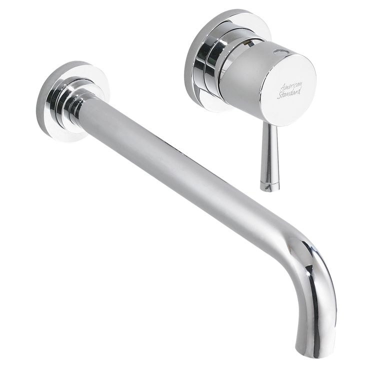 Bathroom Sink Faucets - Serin 1-Handle Wall-Mount Bathroom Faucet - Polished Chrome