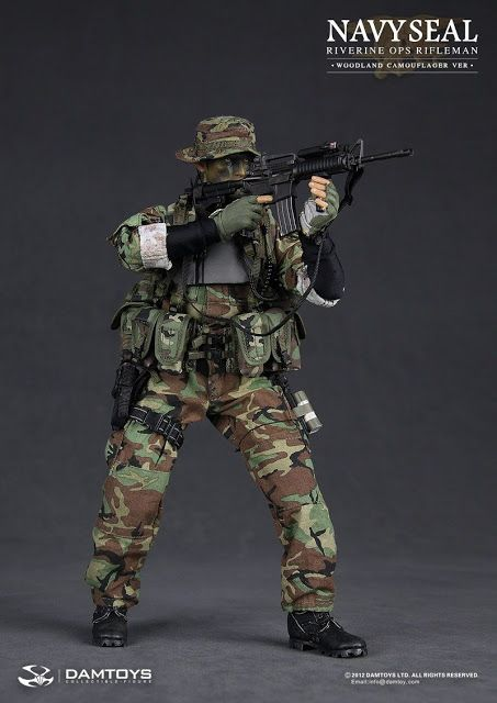 onesixthscalepictures: DAM Toys NAVY SEAL Riverine Ops Rifleman : Latest product news for 1/6 scale figures (12 inch collectibles) from Side...