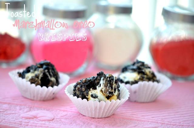 Toasted Marshmallow Oreo Krispies - Geroosterde Marshmallow Oreo Krokantjes