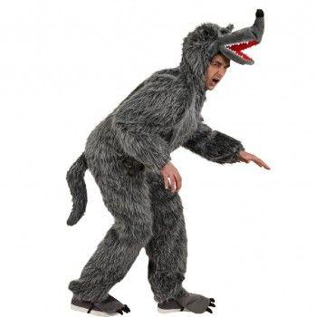 Wolfskostüm, Overall grauer Wolf kaufen