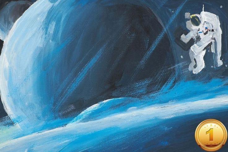 В Нью-Йорке открываются художественные выставки, посвященные Юрию Гагарину. «Просторы Вселенной», автор – Константин Дубовский, школа 41, Нью-Йорк, США