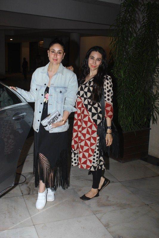Kareena Kapoor Khan Khan & Karishma Kapoor snapped at Manish Malhotra house