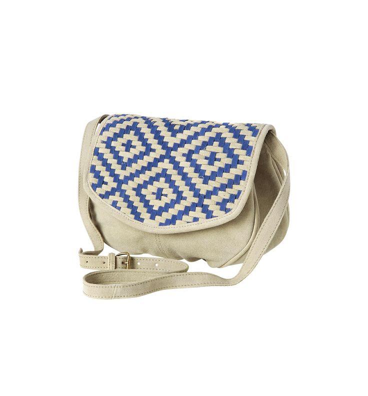 Leather fashion bag - Ecru - Women - Accessories - Promod