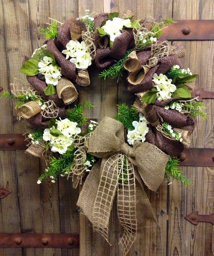 Burlap Mesh wreath