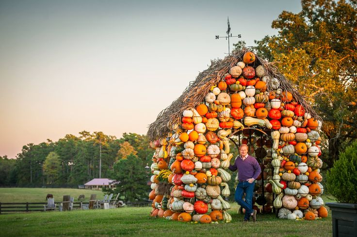 P. Allen Smith's beloved Pumpkin House at Moss Mountain Farm   A MUST-SEE during the fall season. Come see us for a tour this fall!