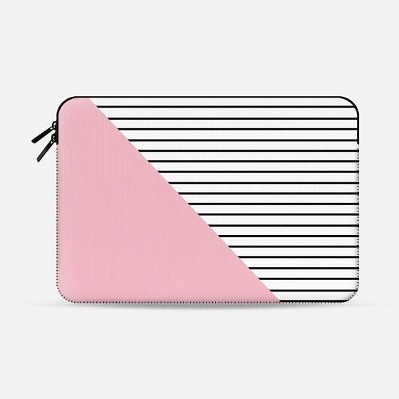 Pink and stripes - Macbook Sleeve