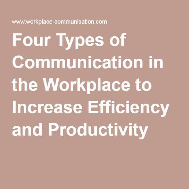 Four Types of Communication in the Workplace to Increase Efficiency and Productivity