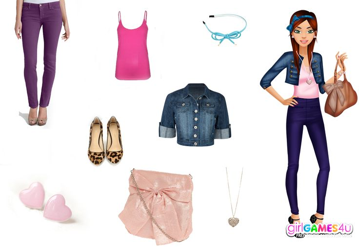 Hello #ladies! Are you ready for #college? Here's a suggestion for a #fab college #look!***  #Game's link: http://www.girlgames4u.com/delicate-college-girl-makeover-game.html ✿ ✿ ✿