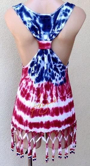 4th Of July Tank Top Independence Day Tie Dye Stars by Sunjunki by joanne