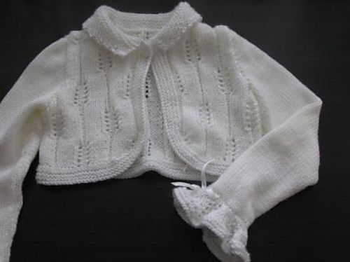 "Ravelry: Ears First Communion Bolero pattern by Wioletta ""Wiolett"""