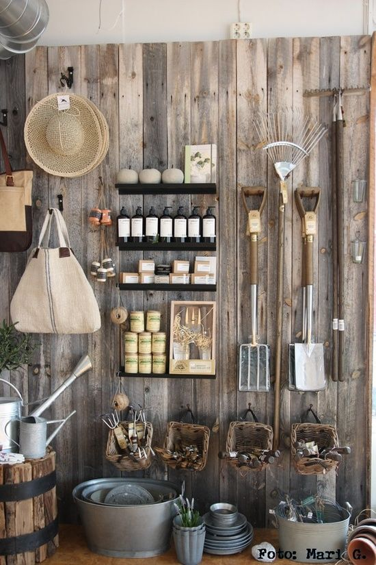 25 best ideas about garden shed interiors on pinterest for Attaching shelves to plastic shed