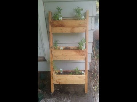 Astounding and Simple Pallet Herb Planter DIY - YouTube