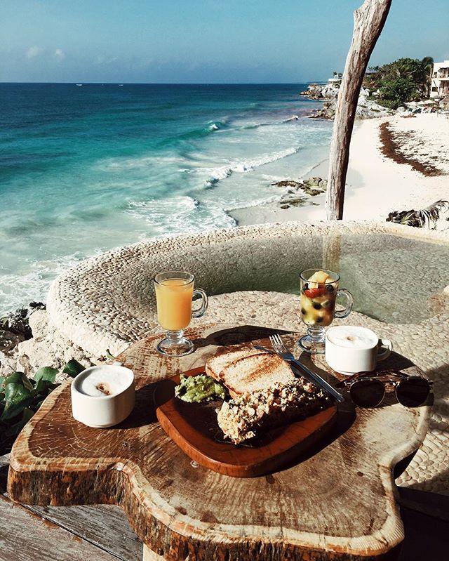 Breakfast in this Tulum paradise... ☕️☁️ @azuliktulum