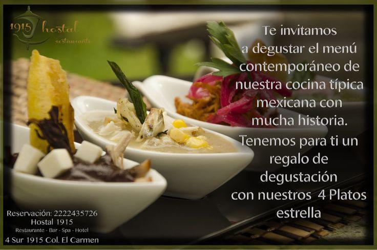 Si te gusta la cocina típica mexicana e quiere un toque más glamour de sabor ... Aquí esta la mejor posibilitad de degustar el real sabor de puebla
