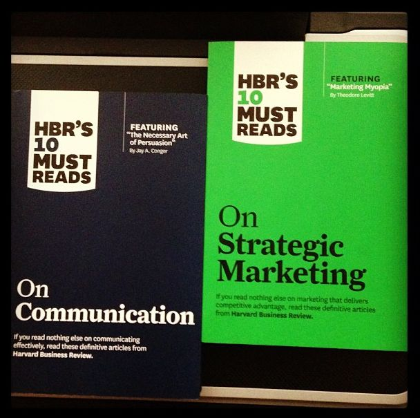"HBR never plays around with fancy titles,  the ""HBR's 10 Must Reads"" series is a MUST READ indeed. These two are gigantic pieces of wisdom in marketing and communications for anyone working in either field. You are seriously doing a disservice to your professional growth by not reading these jewels."
