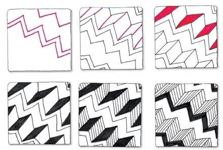zentangle: zigzag stairs