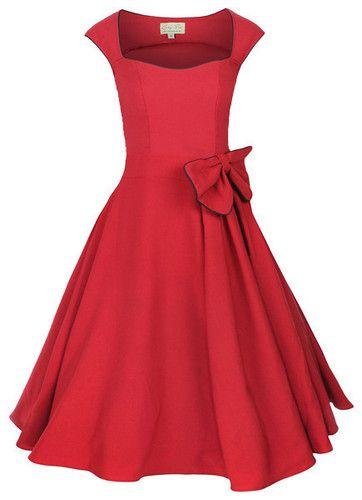 Retro 50'S Rockabilly Swing Pinup Vintage Cocktail Prom Evening Formal Dress | eBay