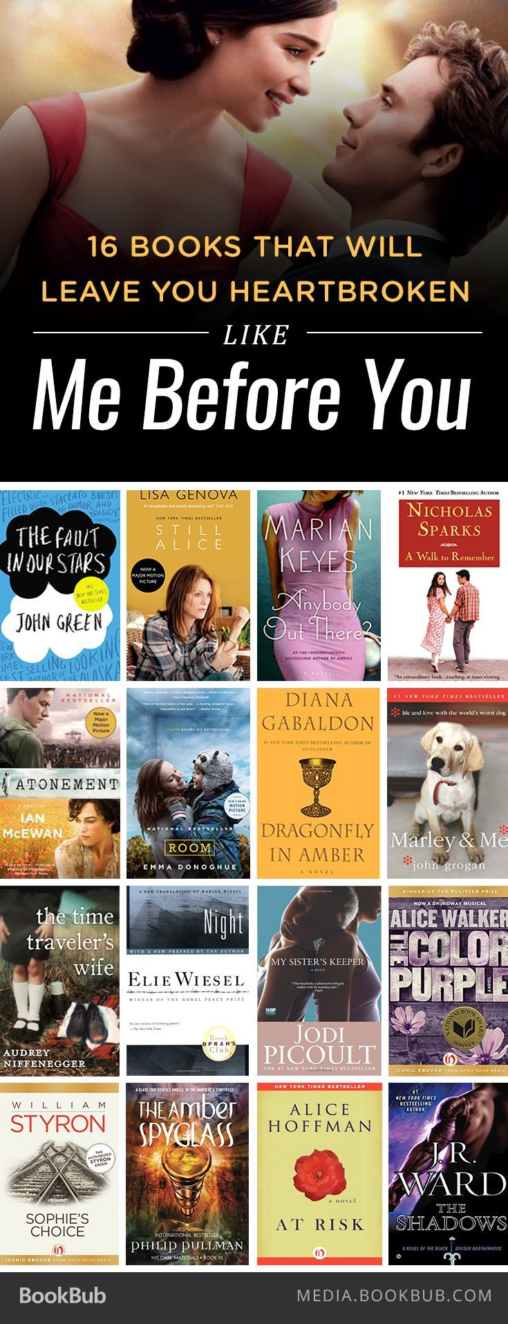 Grab the tissues! These 16 books will leave you heartbroken like Jojo Moyes's Me Before You.