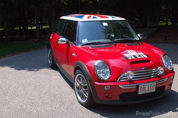 Mini Cooper With British Flag Quintessentially British