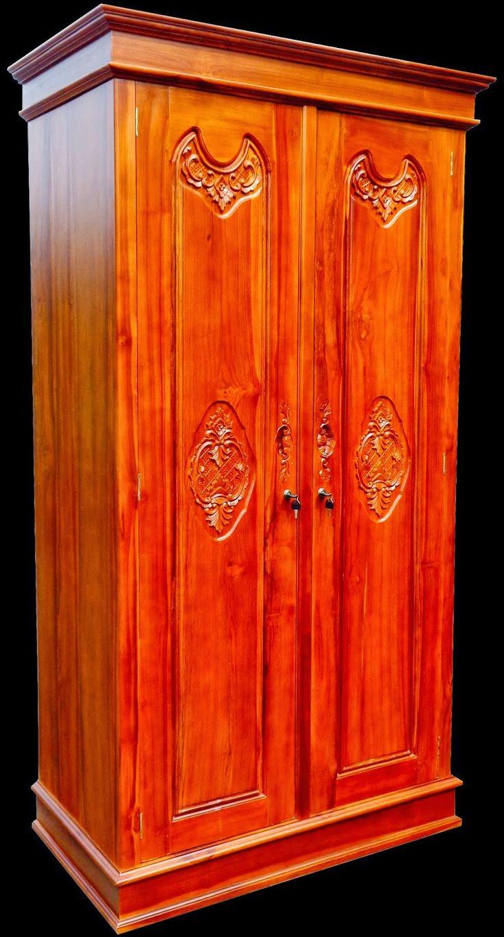 Jati Furniture Minimalis Almari Pakaian 2 Pintu Almari