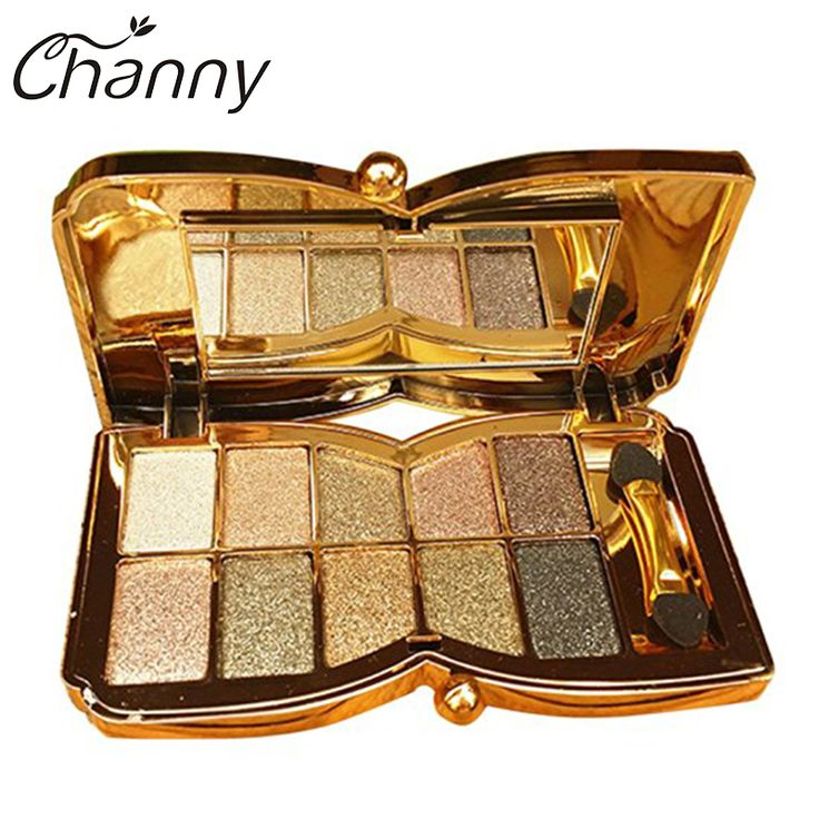 10 Color Eye Shadow Glitter Eyeshadow Diamond Bright Colorful Makeup Palette Professional Cosmetic Party Masquerade