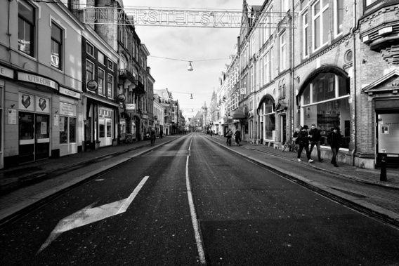 Nieuw in mijn Werk aan de Muur shop: Een verlaten Nobelstraat in Utrecht