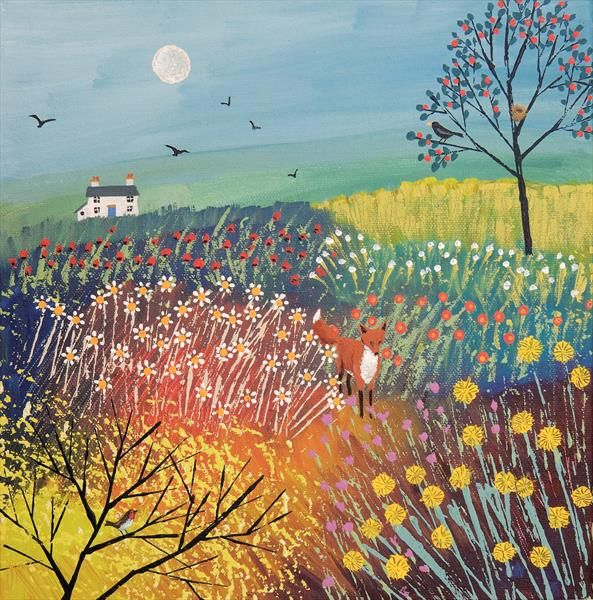 Twilight Over Summer Meadow by Josephine Grundy