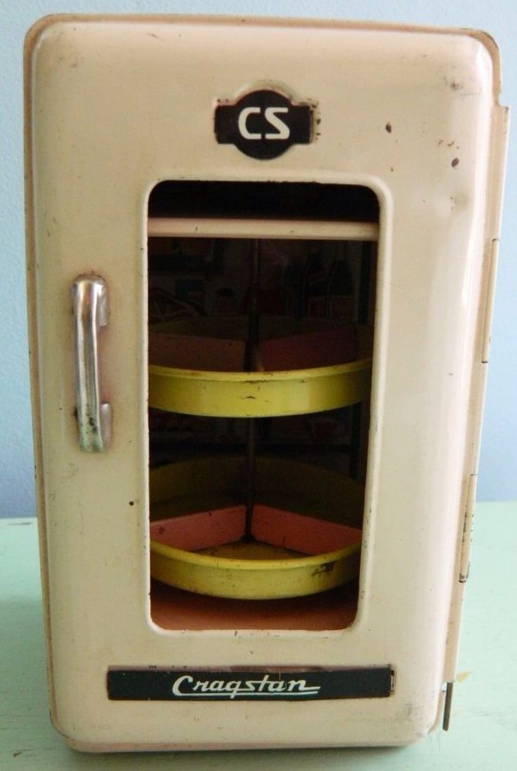 Antique vintage unfinished refrigerators - Cragstan Toy Metal Refrigerator Ca 1950