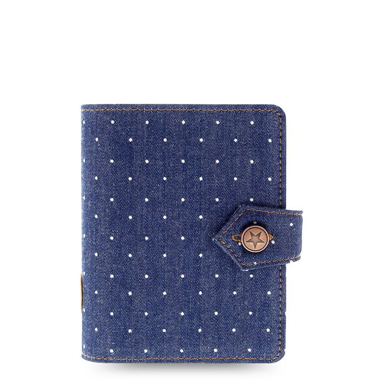 Denim Dots Organizer - Filofax - Pocket - $44.50