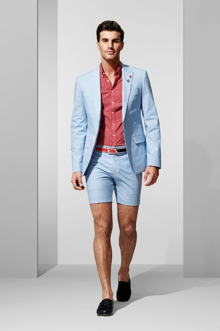 The Blue Check Blazer and Short. Shop the look at http://www.calibre.com.au/lookbook/look-371