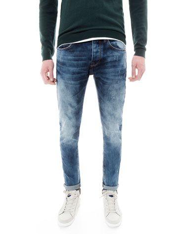 Bershka Romania - Stonewashed slim fit jeans