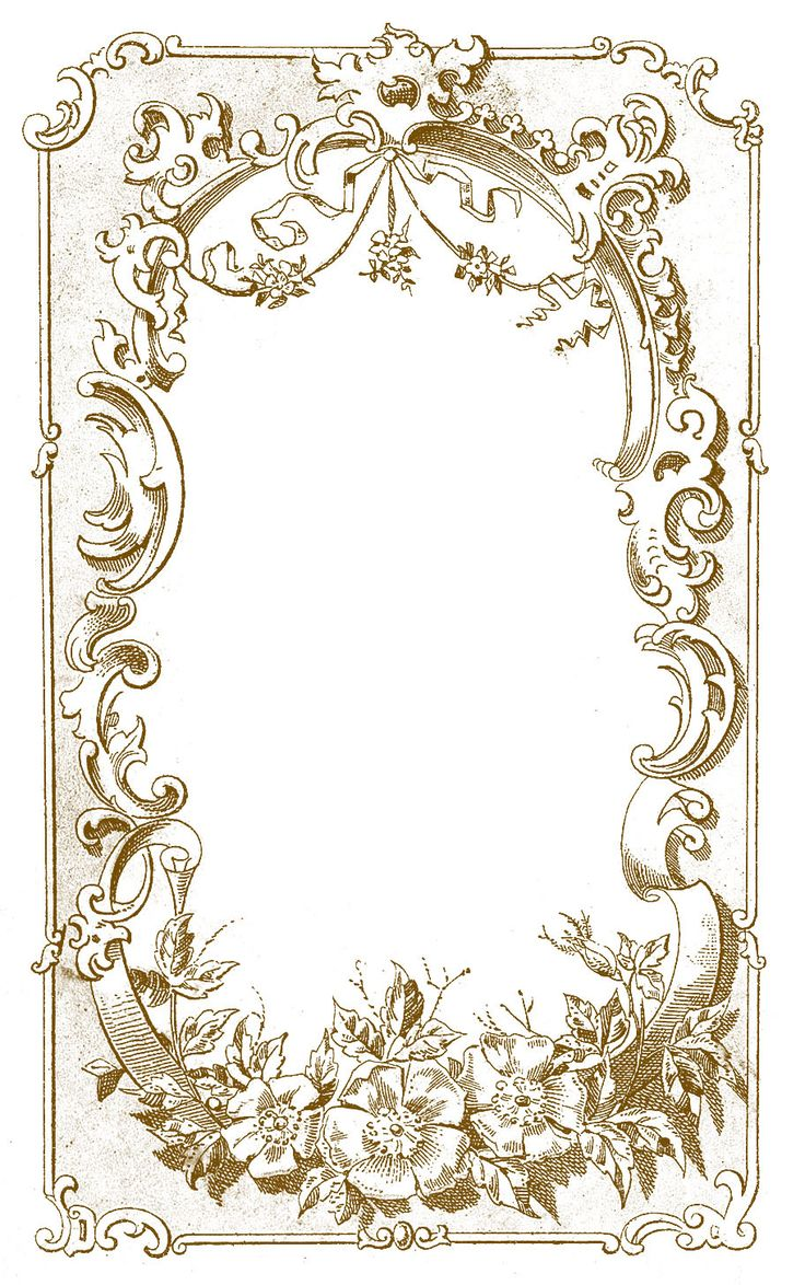 *The Graphics Fairy LLC*: Digital Frame Image - Ornate European (more colors on her website)