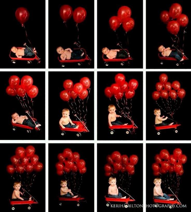 10 ideias de fotos para registrar o crescimento do seu bebê