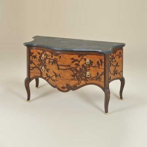 Natural Finished Chest of Drawers, Laser Cut Branch & - 5030-330