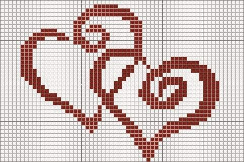 free cross stitched hearts