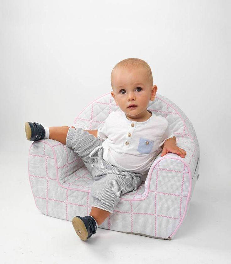Rosette - pohodlné prošívané sedačka pro dítě