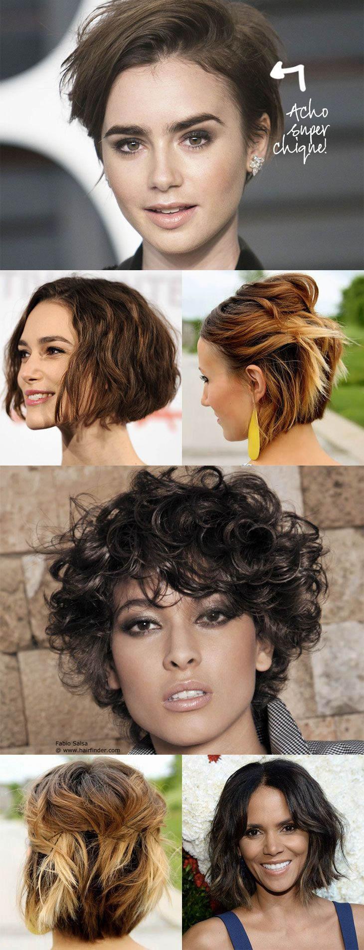 Várias opções de Penteados para Cabelos Curtos - tranças, coques, rabos, penteados bagunçados e com acessórios como headbands, faixas e turbantes!