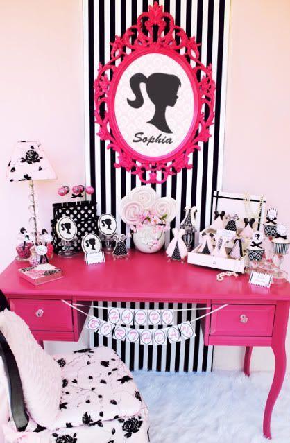 Temas de fiesta para niña Fiesta de Cumpleaños o Piñata de barbie
