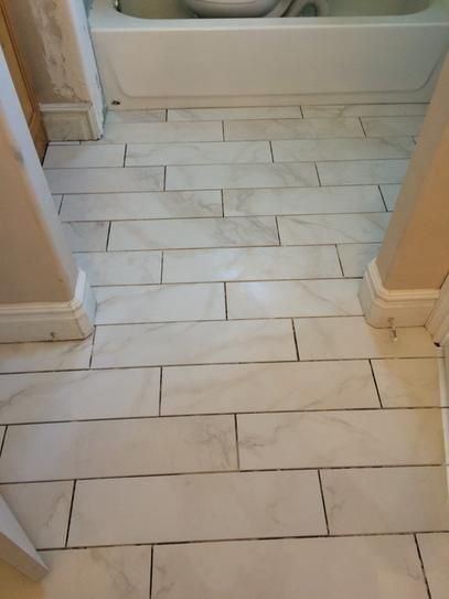 Marazzi Vitaelegante Bianco 6 In X 24 Porcelain Floor And Wall Tile 14 53 Sq Ft Case Making A House Home Pinterest Tiles Flooring
